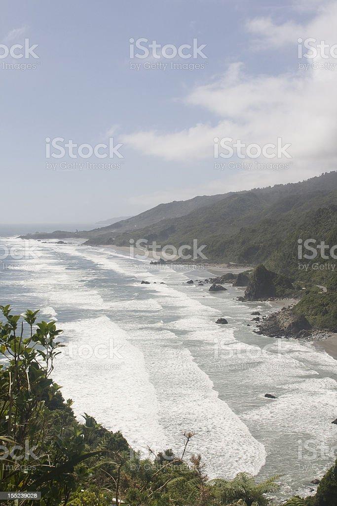 Hazy morning on the coast royalty-free stock photo