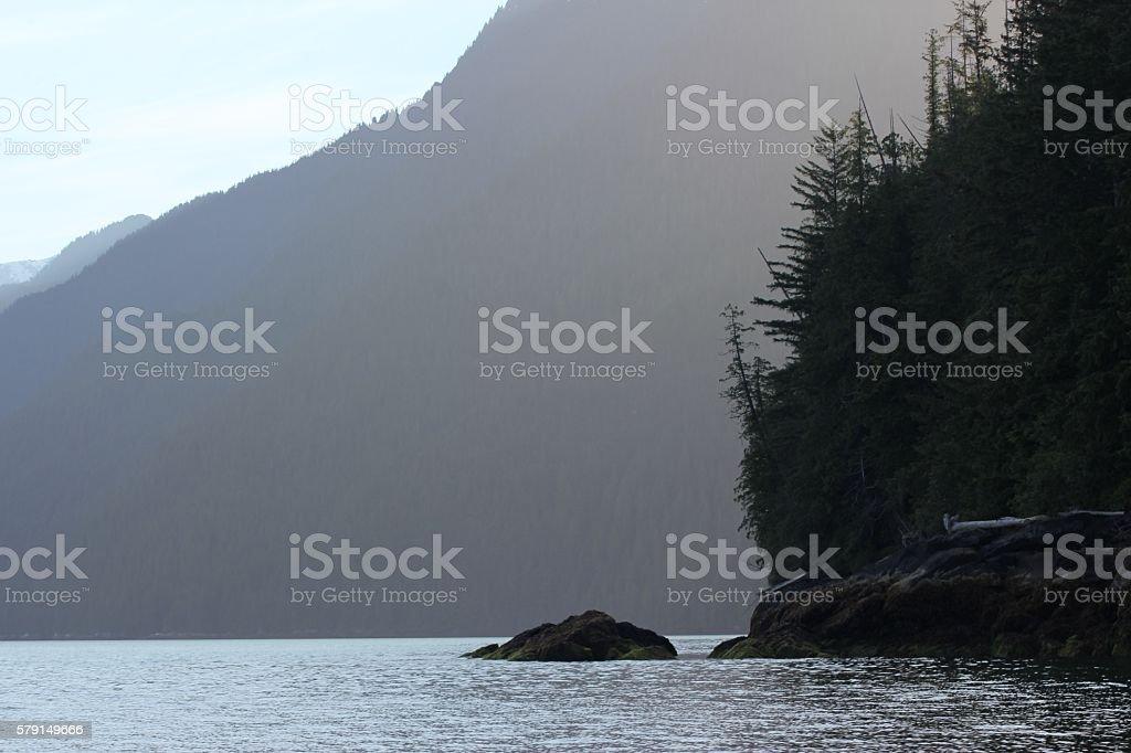 hazy outcrop stock photo