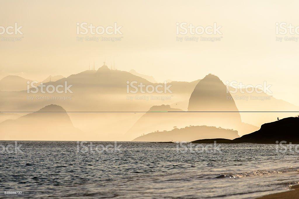 Hazy Rio de Janeiro stock photo