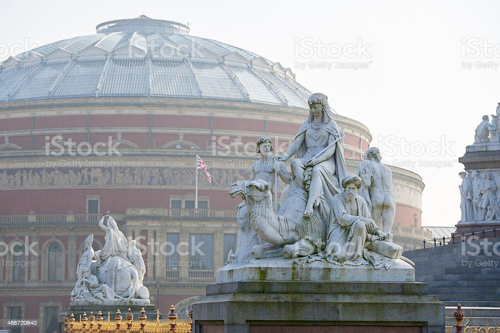 Hazy Royal Albert Hall stock photo