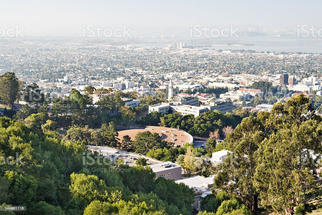 Hazy scenic view of the California coast royalty-free stock photo