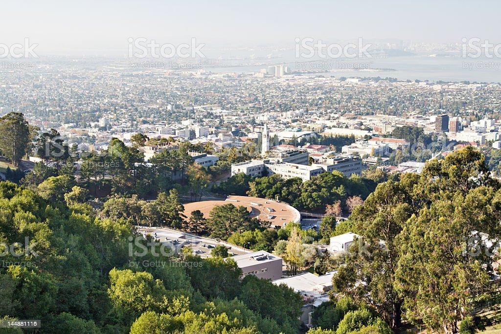 Hazy scenic view of the California coast stock photo