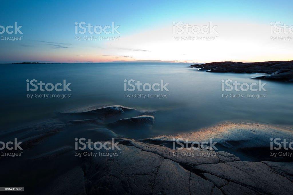Hazy sea royalty-free stock photo