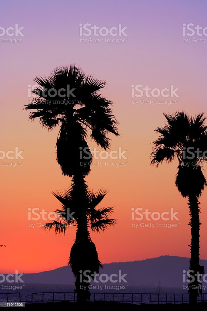 Hazy Sunset in SoCal royalty-free stock photo