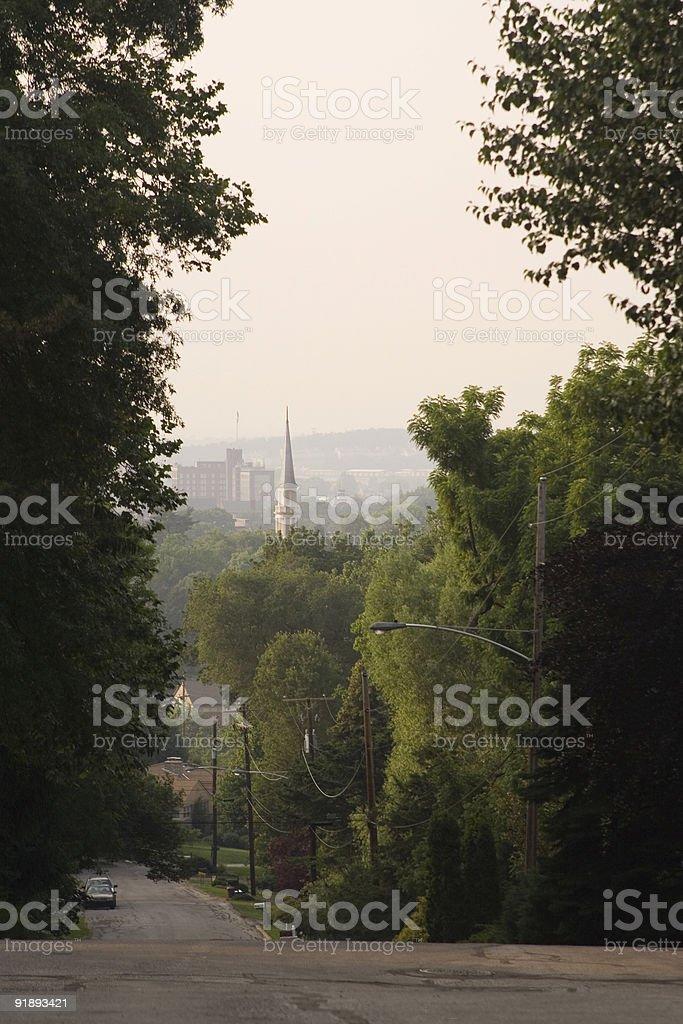 Hazy Valley royalty-free stock photo