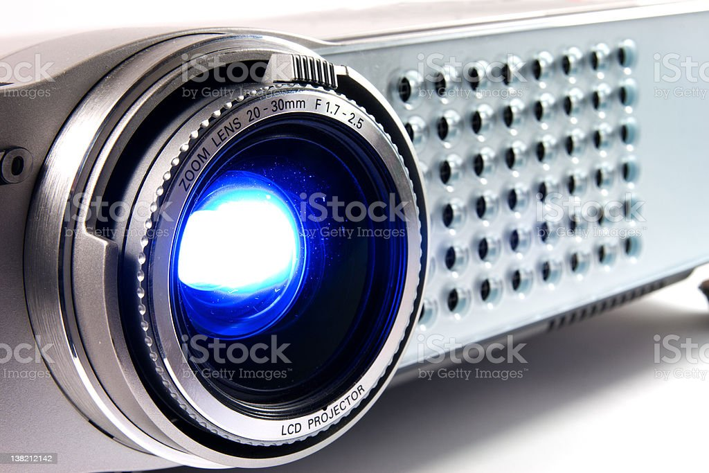 Hd video projector, projecting stock photo