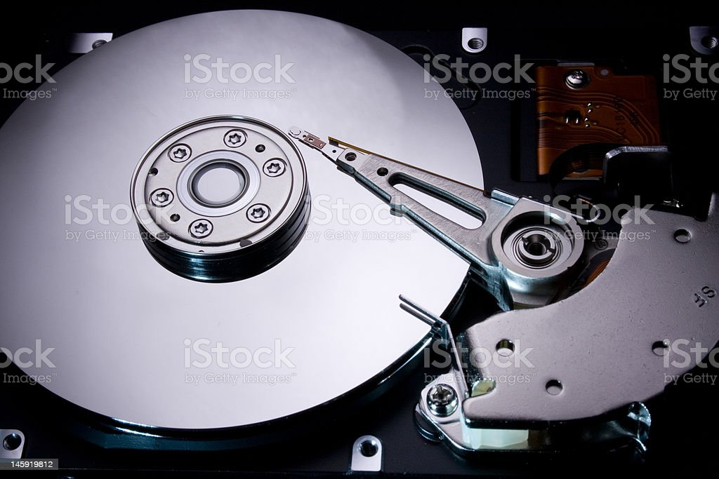 hdd inside 1 royalty-free stock photo