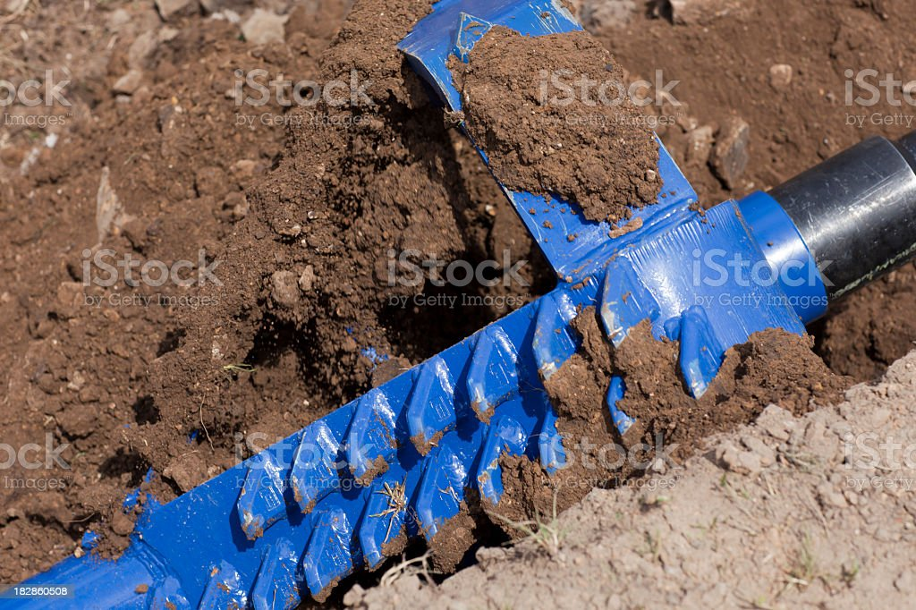 HDD-Horizontal Directional Drilling-Reamer royalty-free stock photo