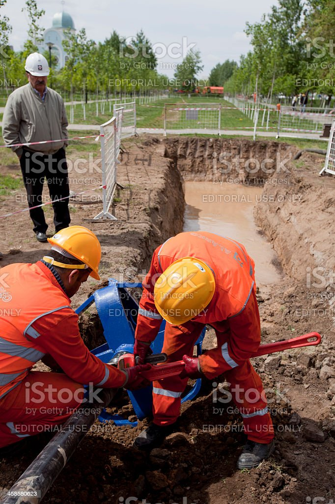 HDD-Horizontal Directional Drilling-Reamer stock photo