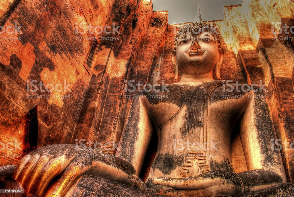 Hdr of buddha statue royalty-free stock photo