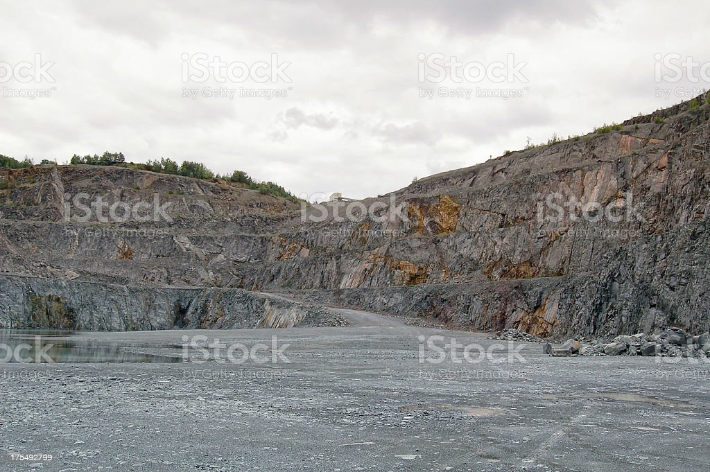 hdr Open-pit Mine royalty-free stock photo