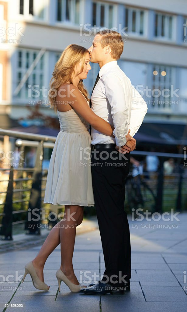He adores her! stock photo