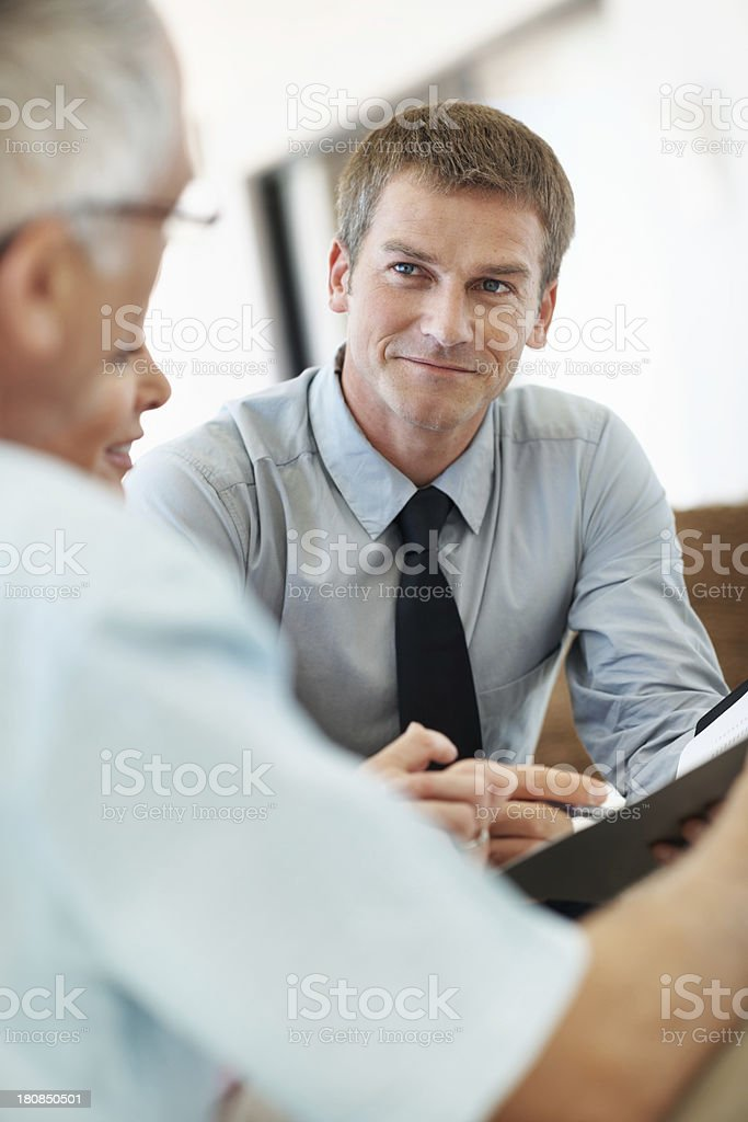 He aims to please all of his clients royalty-free stock photo