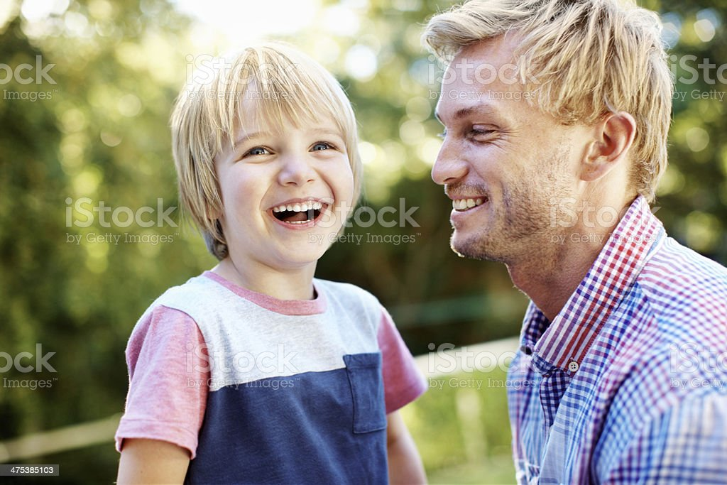 He always has fun with dad royalty-free stock photo