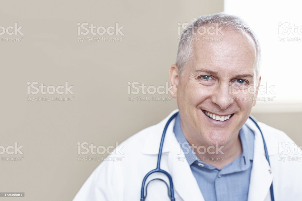 He always helps with a smile royalty-free stock photo