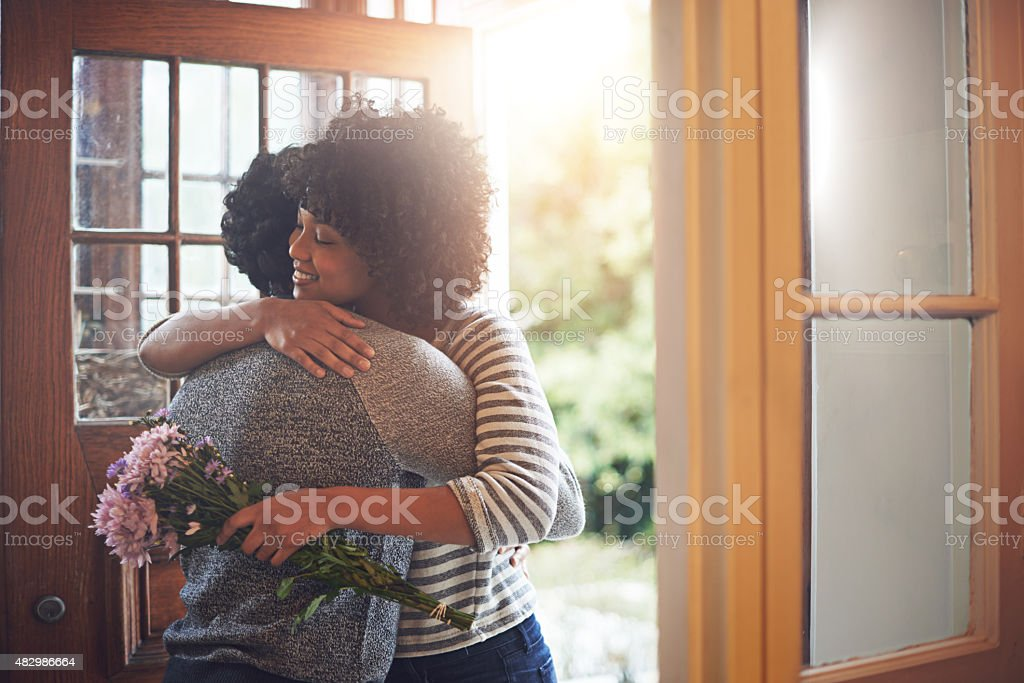 He always makes her feel special stock photo