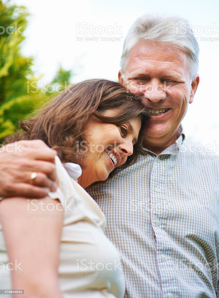 He always makes me laugh! stock photo
