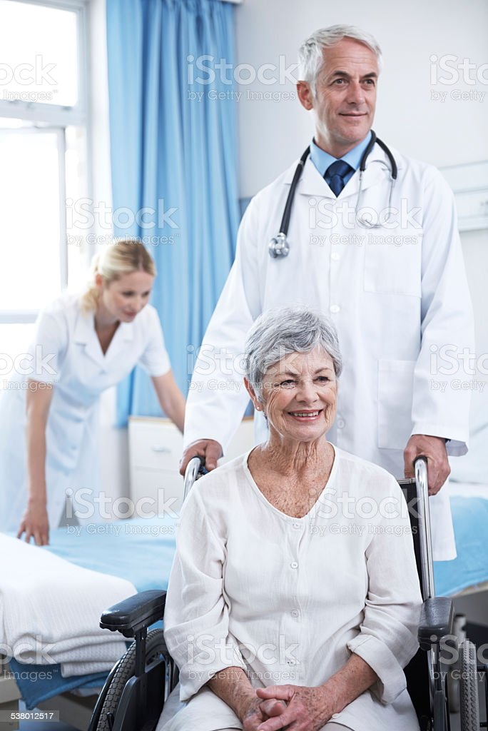 He always makes time for his patients stock photo