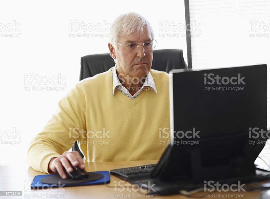 He brings his vast experience to the table royalty-free stock photo