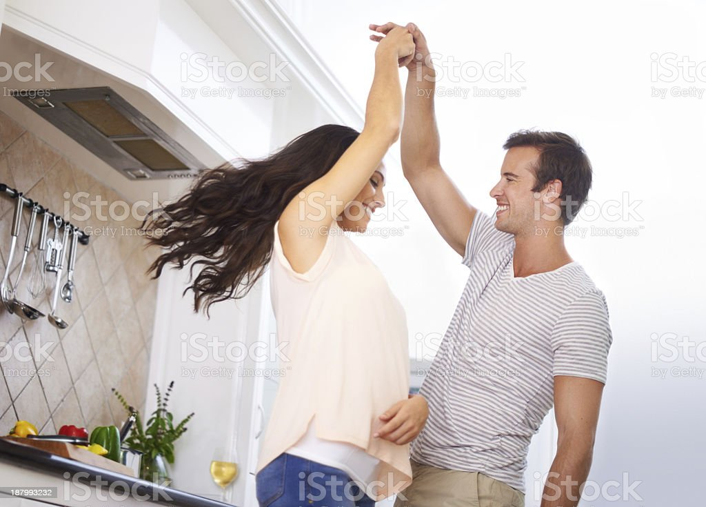 He brings out my playful side! stock photo