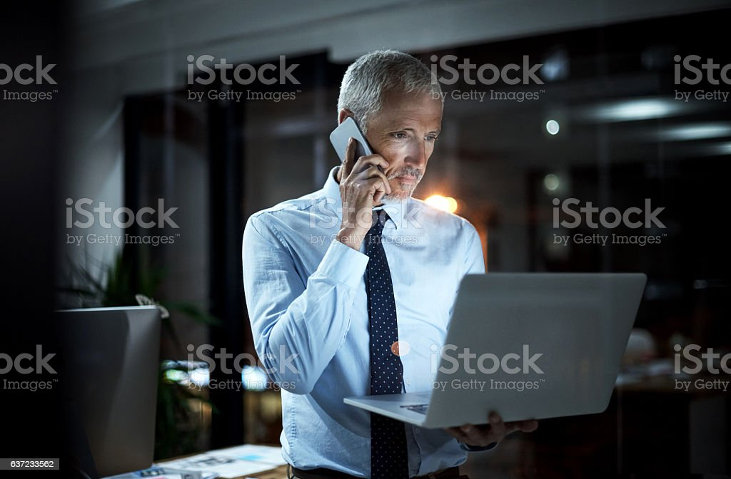 He can do everything all at once stock photo