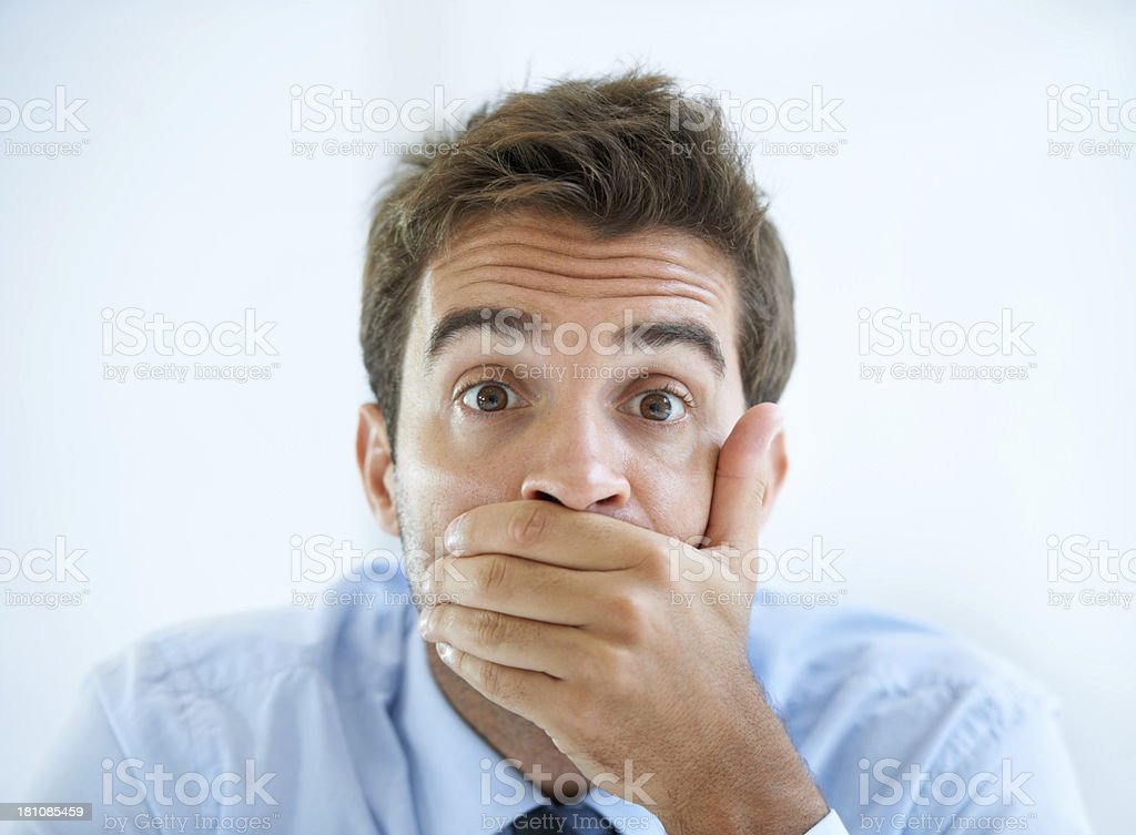 He cant believe his eyes stock photo