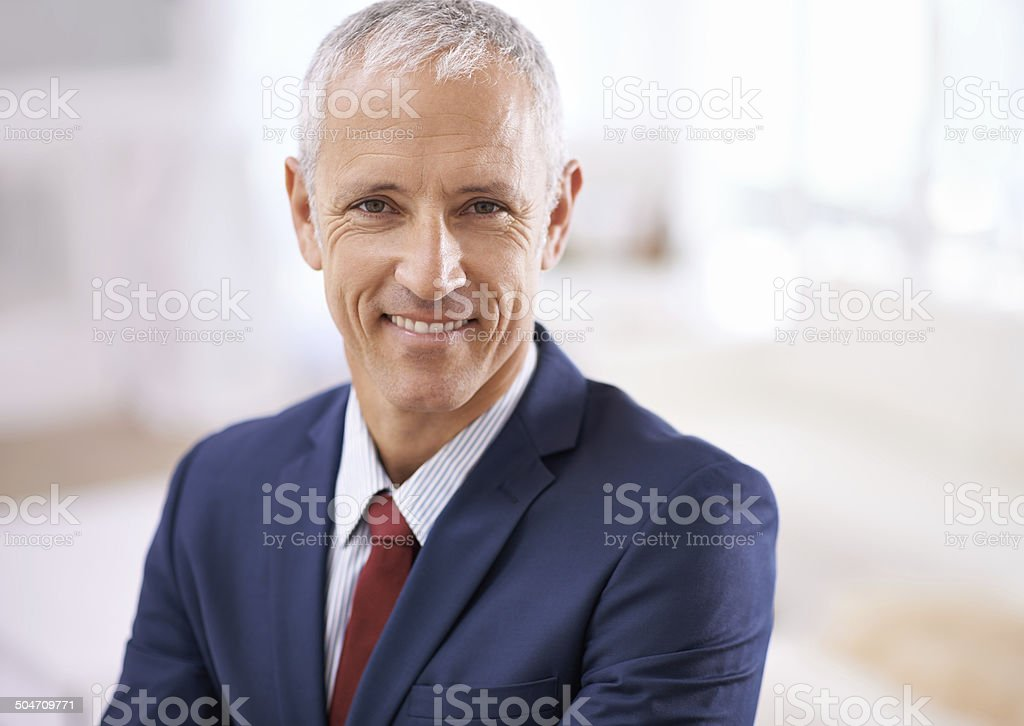 He deserves his success stock photo