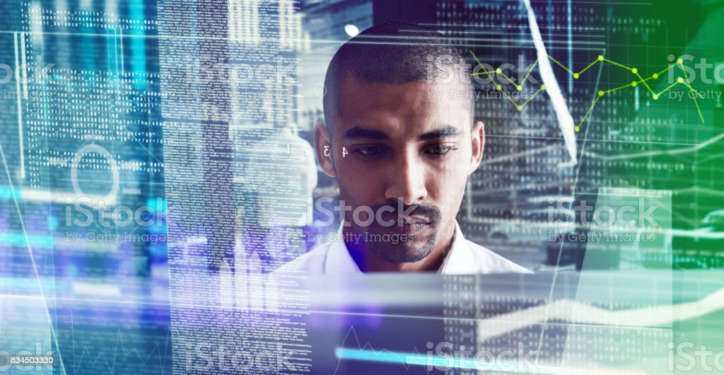 He figured out the algorithm of success stock photo