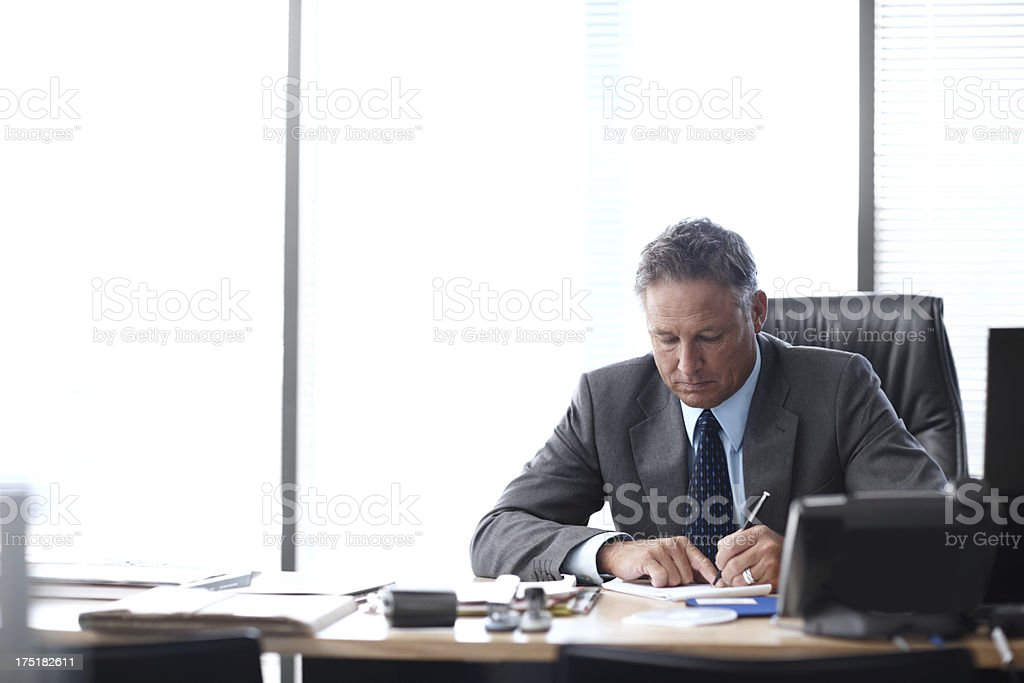 He got here by working hard royalty-free stock photo