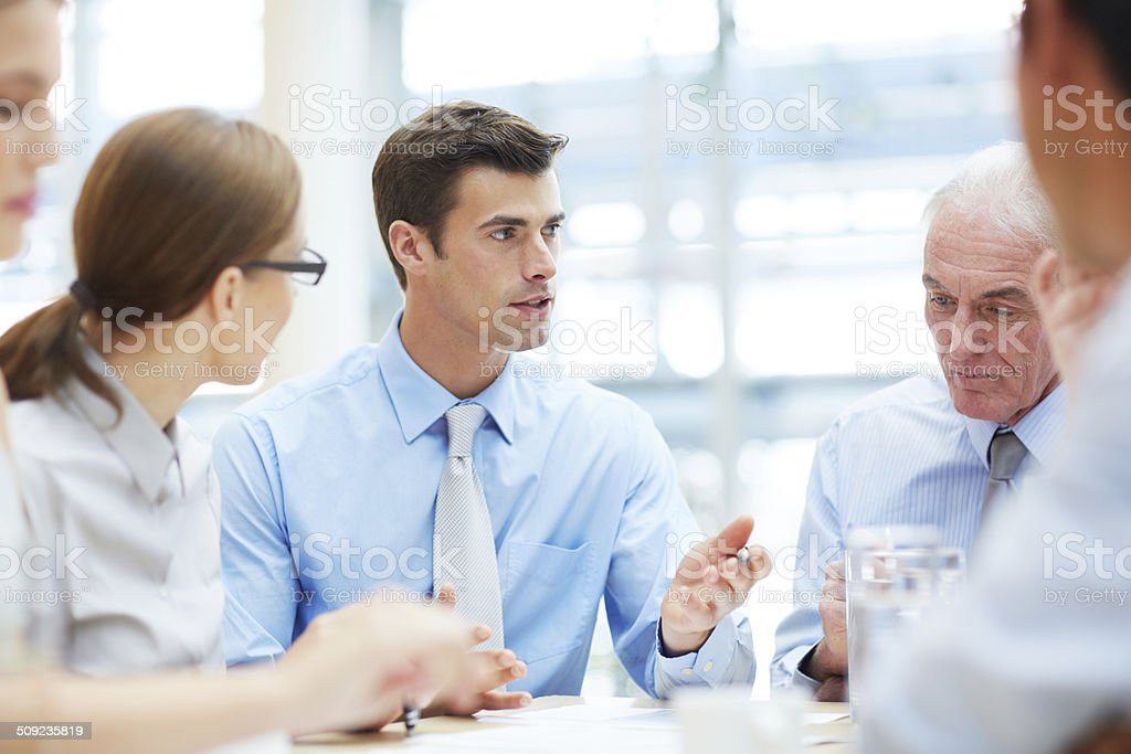 He has a great mind for business stock photo