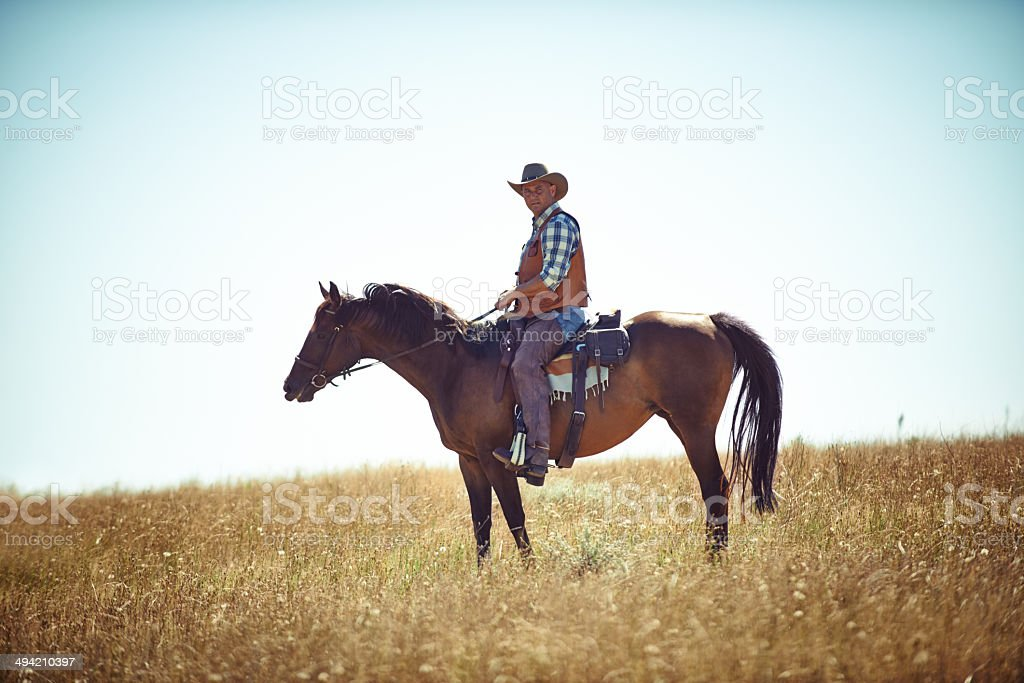 He has a love for the open plains royalty-free stock photo