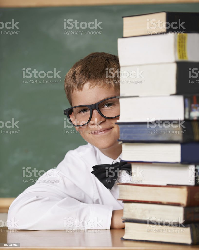 He has a thirst for knowledge! royalty-free stock photo