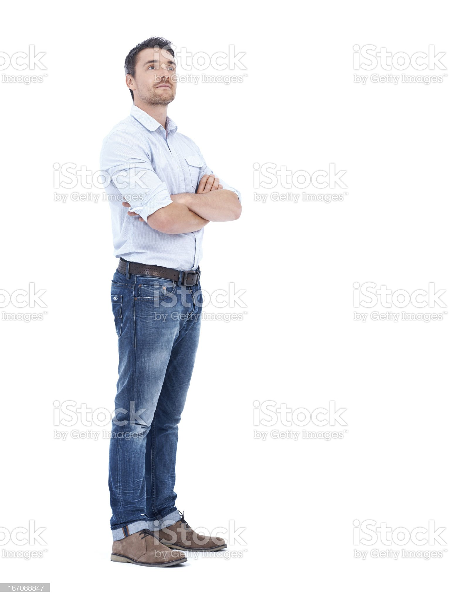 He has a vision for his career royalty-free stock photo