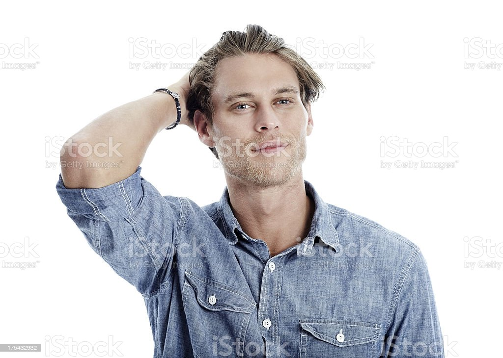 He has an easy confidence about him stock photo