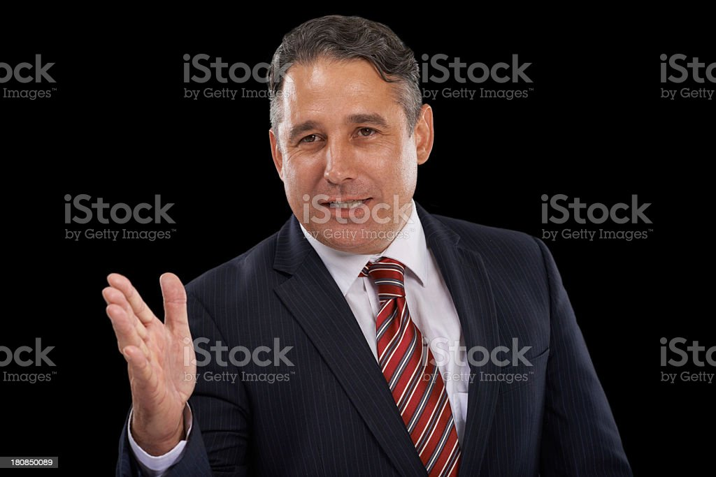He has firm beliefs royalty-free stock photo