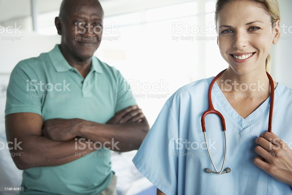 He has full confidence in her medical skills royalty-free stock photo