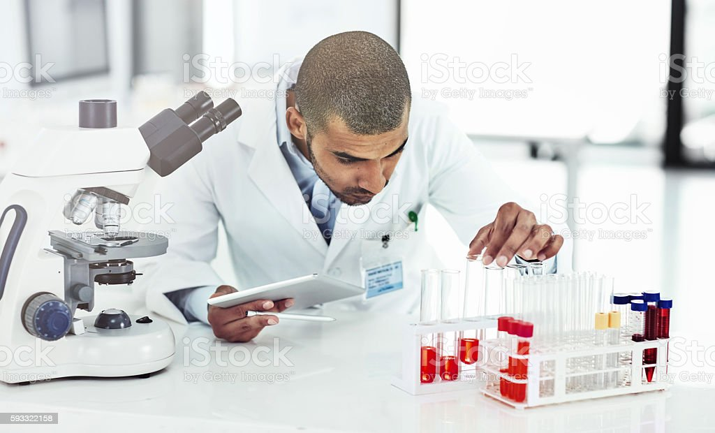 He has good practical and technical skills stock photo