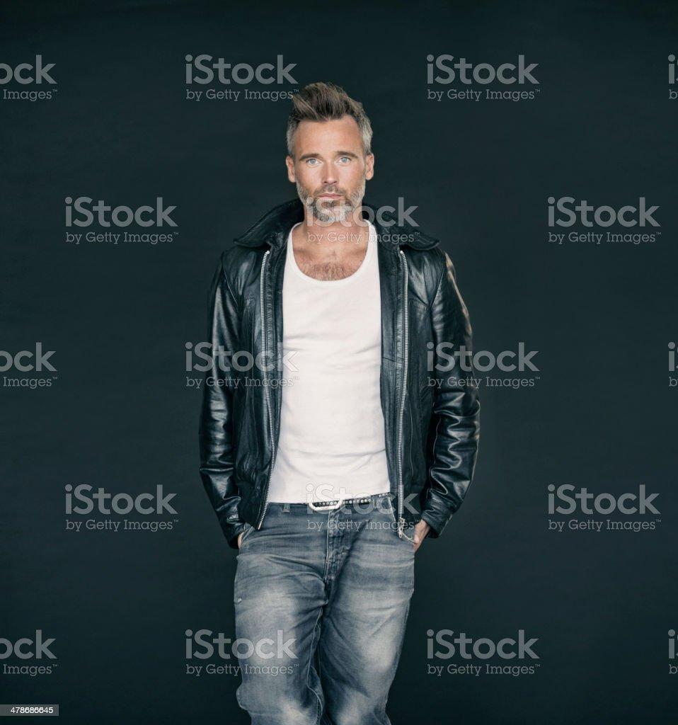 He has his own sense of style stock photo
