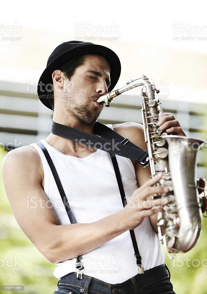 He has music in his soul royalty-free stock photo