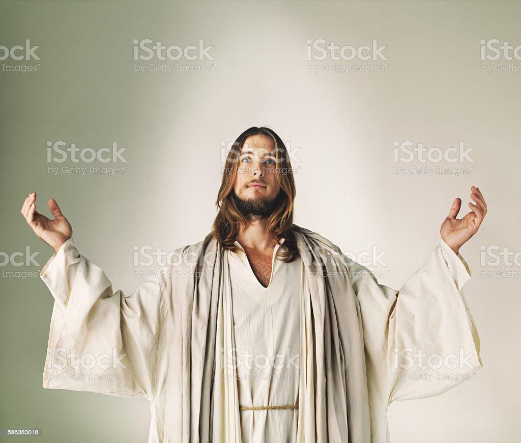 He has risen stock photo