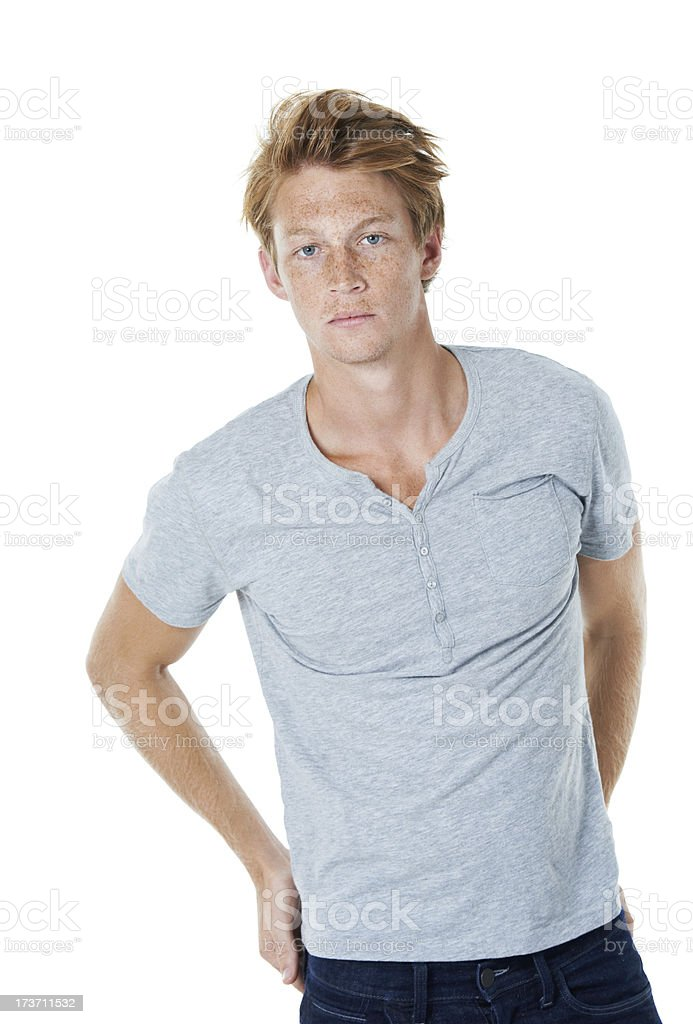 He has self-confidence royalty-free stock photo