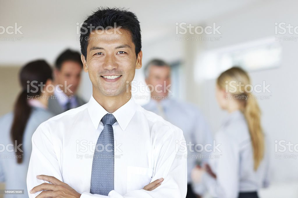 He has the utmost confidence in his workforce stock photo