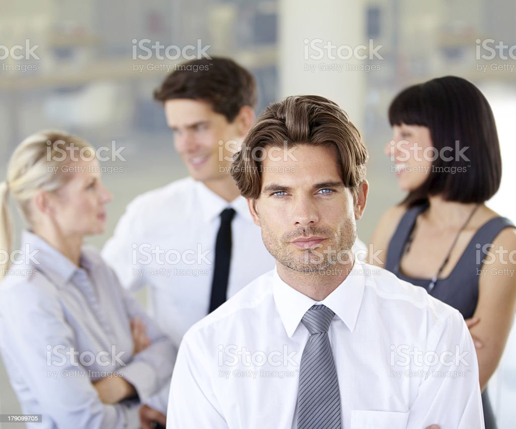 He has what it takes royalty-free stock photo