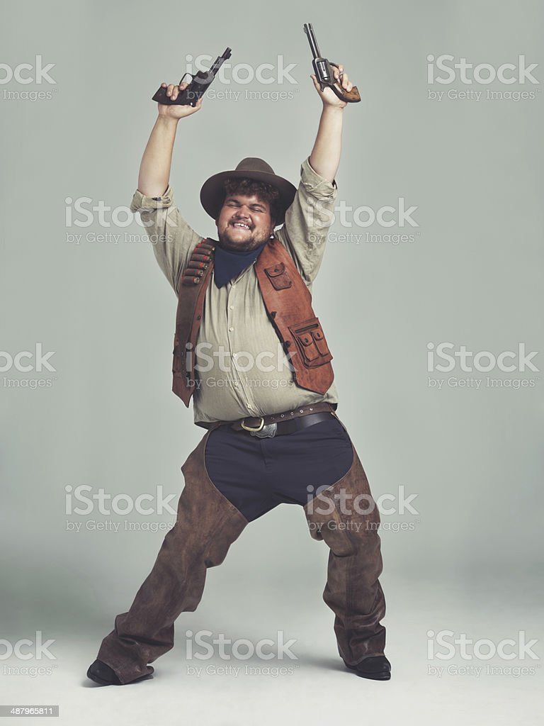 He heard The Village People needed a new cowboy... stock photo