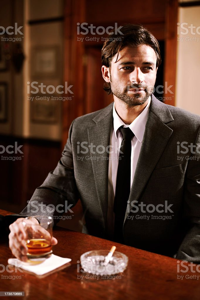 He is a cool customer royalty-free stock photo