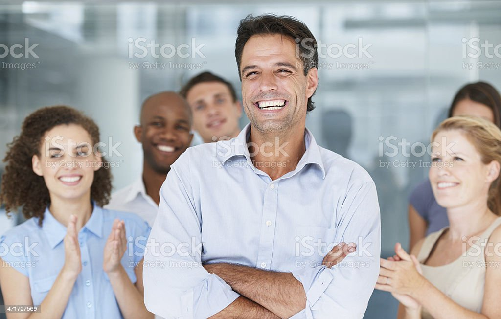 He is a fantastic leader! royalty-free stock photo