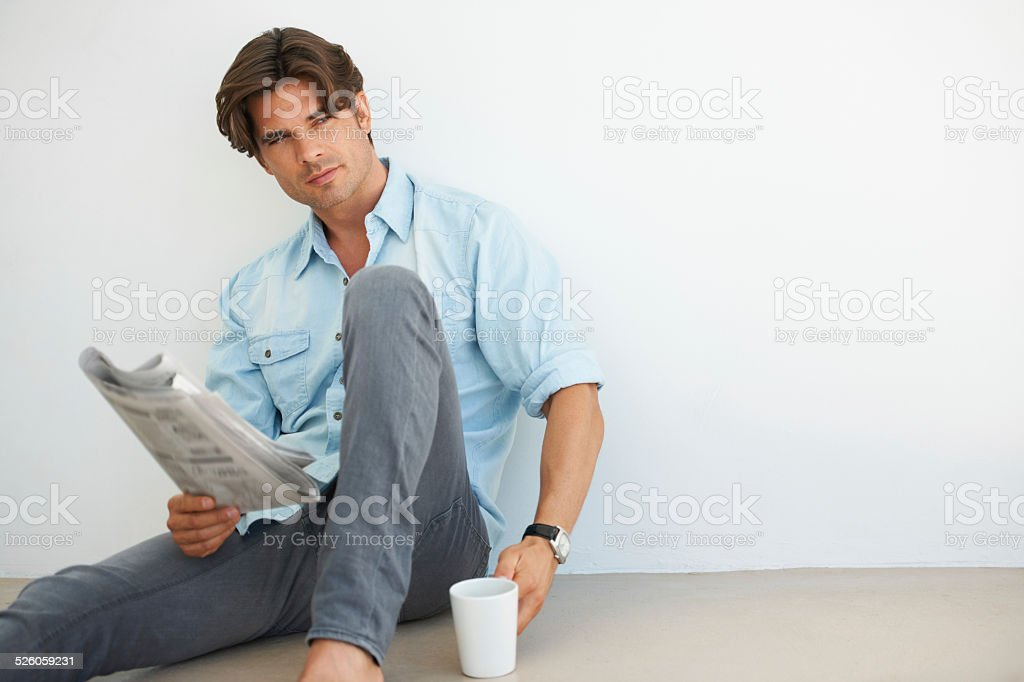 He is a morning man stock photo