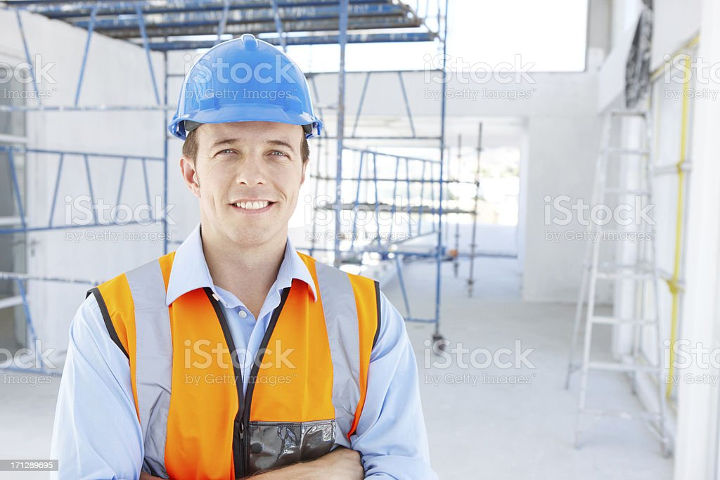 He is moving up the ladder royalty-free stock photo