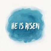 He Is Risen Easter Illustration