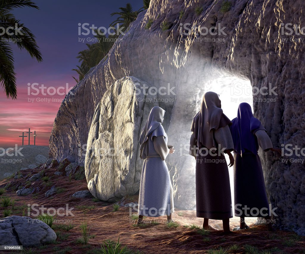He is Risen stock photo
